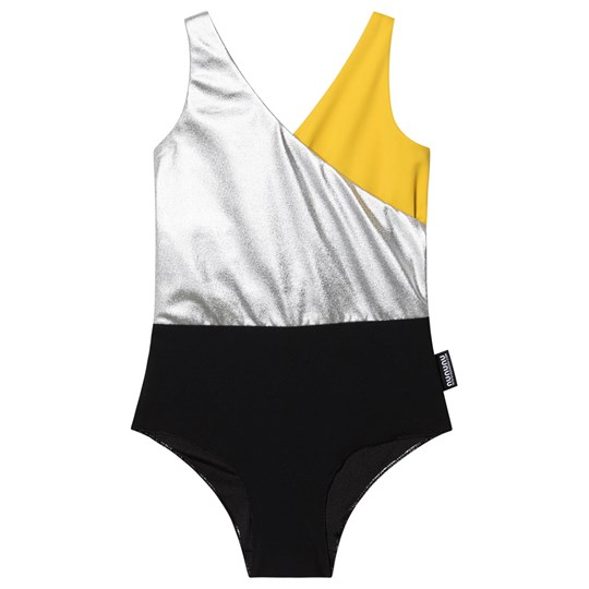 NUNUNU Tricolor Swimsuit Black Black