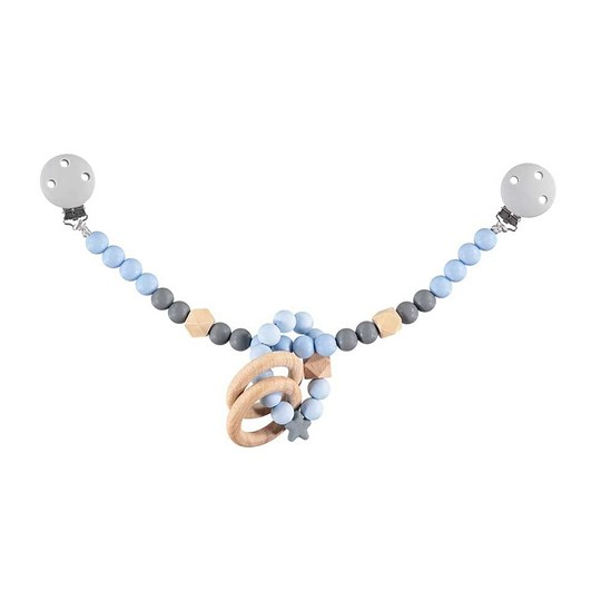 Nibbling Stroller Toy Chain Blue Baby Blue