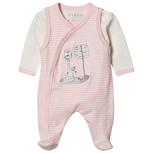 Image of Fixoni Footed Baby Body Sæt Rose Dream 62 cm (2-4 mdr) (1548020)