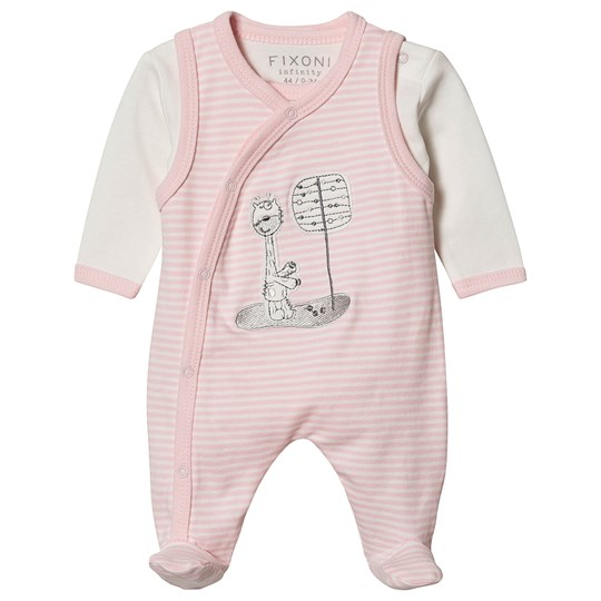 Fixoni Footed Baby Body Sæt Rose Dream Rose Dream