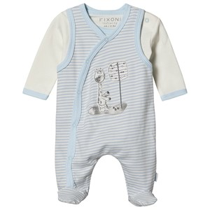 Image of Fixoni Fixoni Romper Set - Oekotex New Light Blue 44 cm (prematur) (1548022)