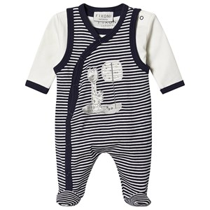 Image of Fixoni Footed Baby Body Set Peacoat 56 cm (1-2 mdr) (1548029)
