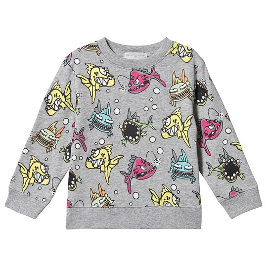 Stella McCartney Kids Angry Fish Svetari Harmaa 1456