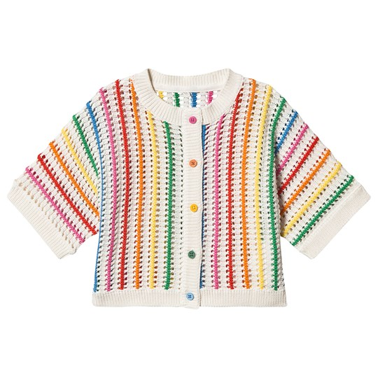 Stella McCartney Kids Rainbow Stripes Kofta Vit 9232