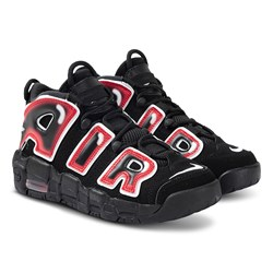 NIKE Air More Uptempo Junior Sneakers Svart/Laser Crimson