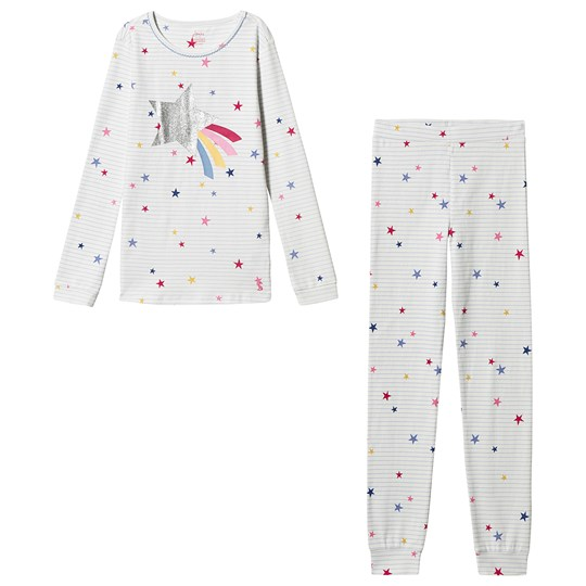 Tom Joule Sleepwell Stripe Star Pyjamas Off White BLUE STRIPE STAR