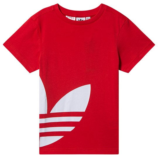 adidas Originals Big Trefoil Logo T-Shirt Röd lush red/white