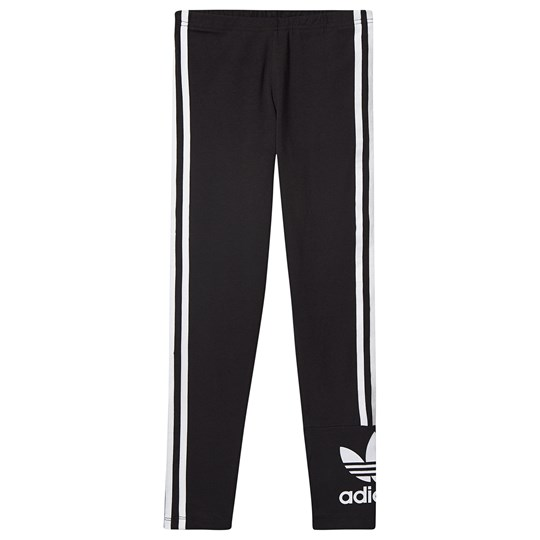 adidas Originals Lock Up Trefoil 3 Stripes Leggings Svart Black/White