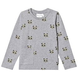 Geggamoja Panda Long Sleeve T-shirt Gray
