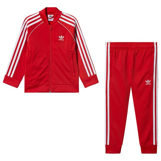 adidas Originals Superstar Tracksuit Red lush red/white