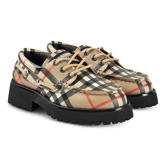 Burberry Vintage Check Boat Shoes Archive Beige A7026