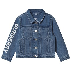 Burberry Logo Japanese Denim Jacket Indigo