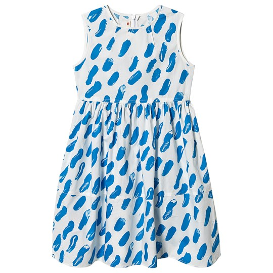 Marni Brush Stroke Dress White/Blue 0M831