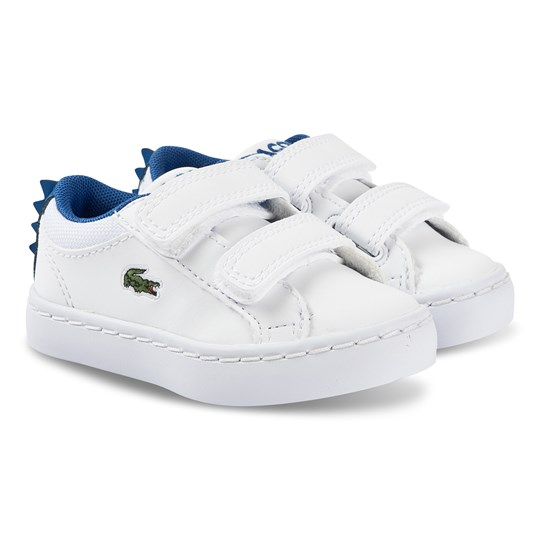 Lacoste Straightset Velcro Sneakers White and Blue 080