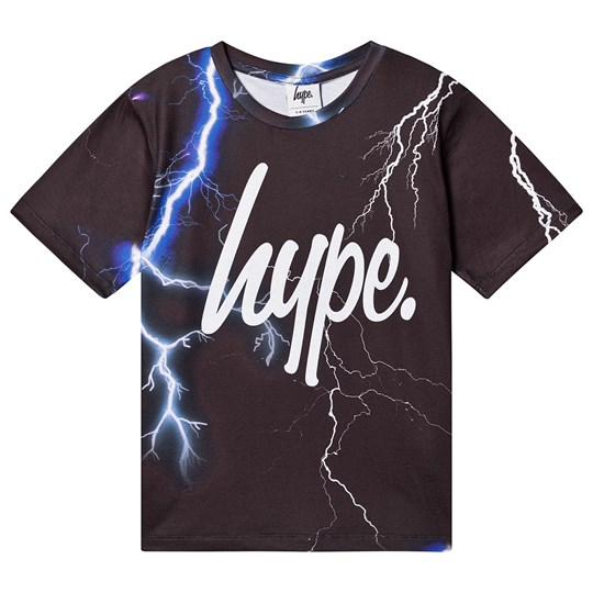 Hype Lightning T-shirt Sort LIGHTING