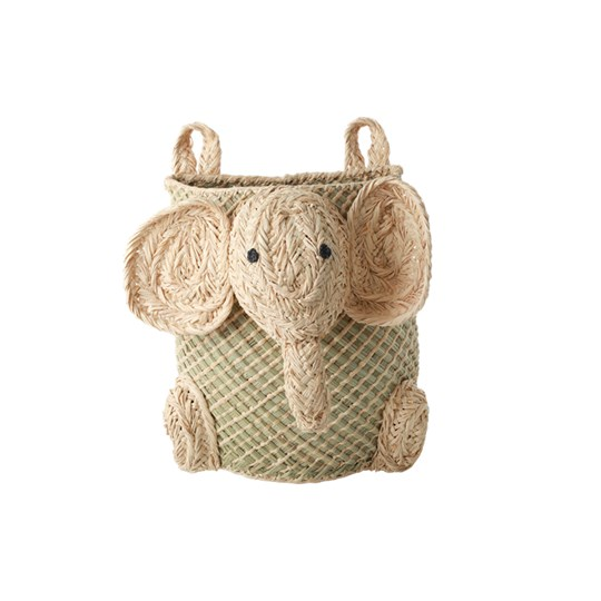 Rice Hanging Seagrass Storage Baskets with Elephant NATURE