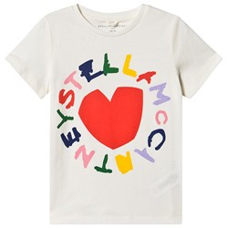 Stella McCartney Kids Stella Heart T-Shirt Vit