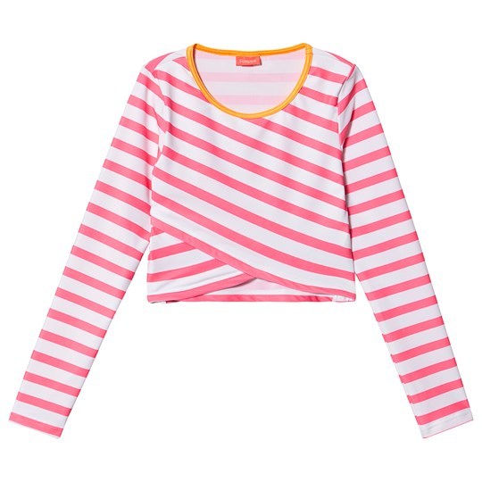 Sunuva Stribet Kort Rash Top Pink Pink