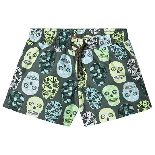 Sunuva Surf Skull Swim Trunks Khaki Khaki