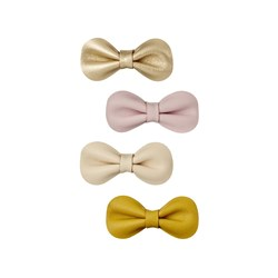 Mimi & Lula 4-Pack Bow Hair Clips Pink/Green/Gold