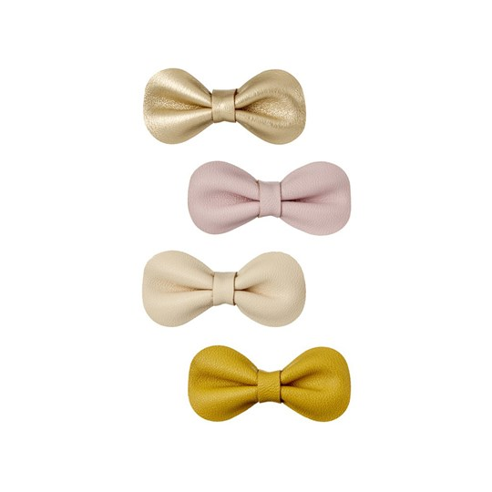 Mimi & Lula 4-Pack Bow Hair Clips Pink/Green/Gold 8
