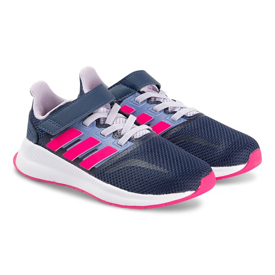 adidas Performance RunFalcon Sneakers Navy/Pink tech indigo/shock pink/purple tint
