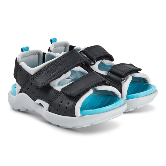 Camper Wous Sandals Black and Blue 002