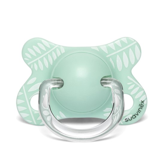 Suavinex Fusion Anatomical Silicone Pacifier 2-4m Leaves/Green Green