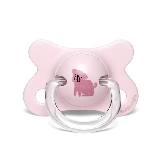 Suavinex Fusion Physiological Latex Pacifier 2-4m Dog/Pink Pink