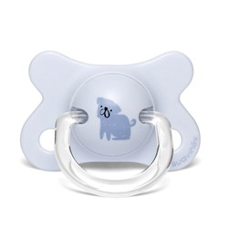 Suavinex Fusion Physiological Latex Pacifier 2-4m Dog/Blue