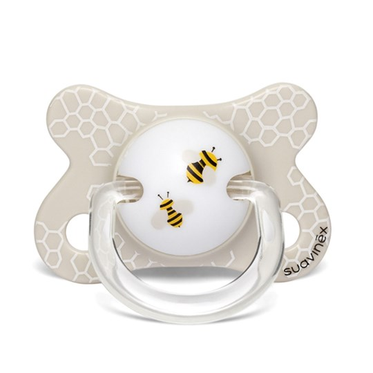 Suavinex Fusion Physiological Latex Pacifier 2-4m Bee Beige