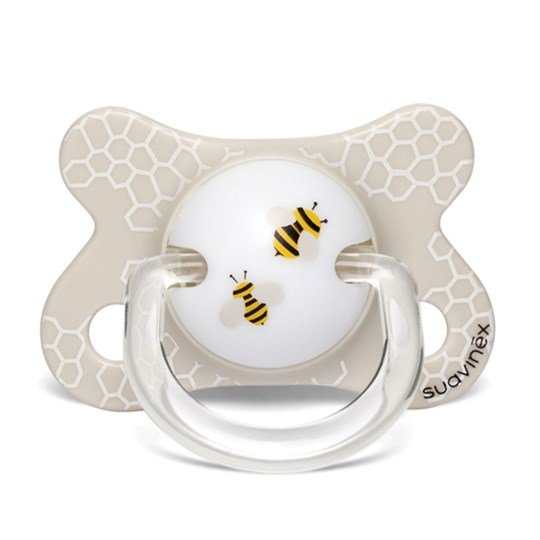 Suavinex Fusion Physiological Silicone Pacifier 2-4m Bee Beige