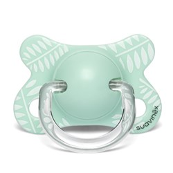 Suavinex Fusion Physiological Silicone Pacifier 2-4m Leaves/Green