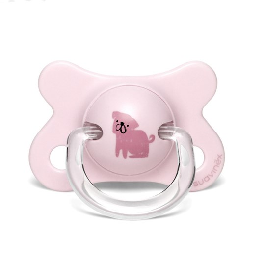 Suavinex Fusion Anatomical Latex Pacifier 2-4m Dog/Pink Pink