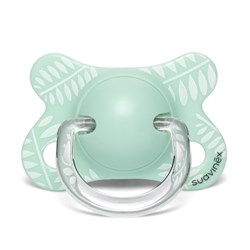 Suavinex Fusion Anatomical Latex Pacifier 2-4m Leaves/Green