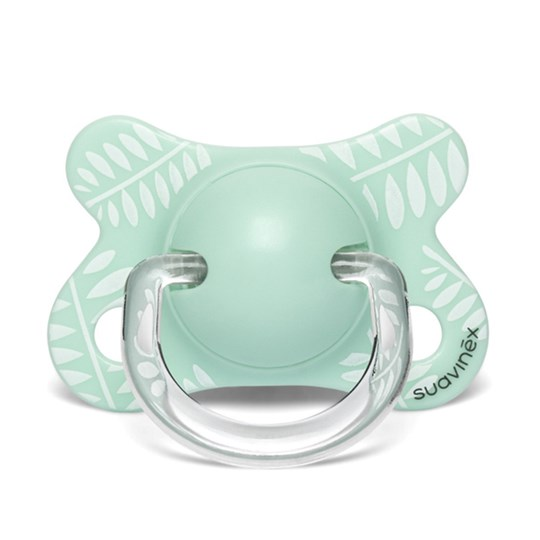 Suavinex Fusion Anatomical Latex Pacifier 2-4m Leaves/Green Green