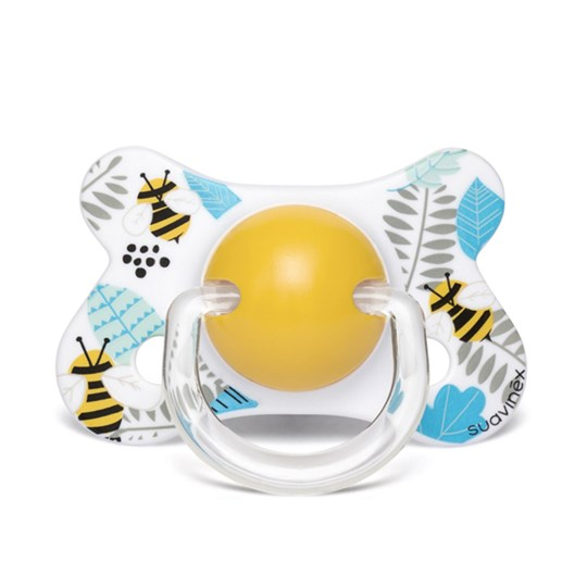 Suavinex Fusion Anatomical Latex Pacifier 4-18m Bee Blue