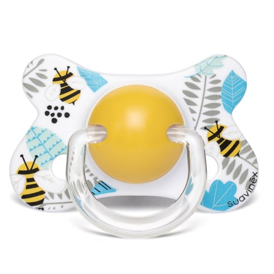 Suavinex Fusion Anatomical Silicone Pacifier 4-18m Bee Blue