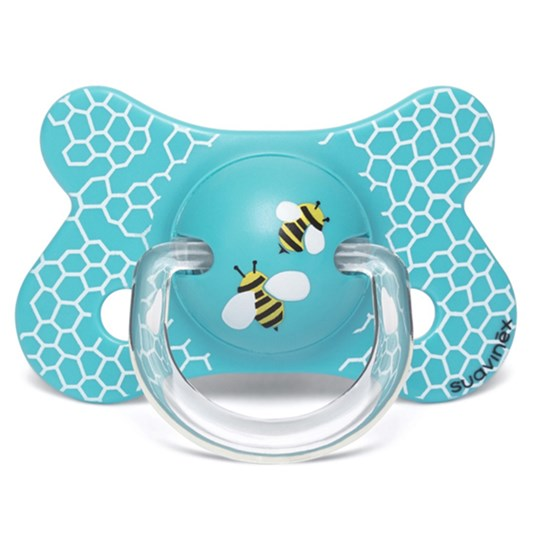 Suavinex Fusion Physiological Latex Pacifier 4-18m Honeycomb White