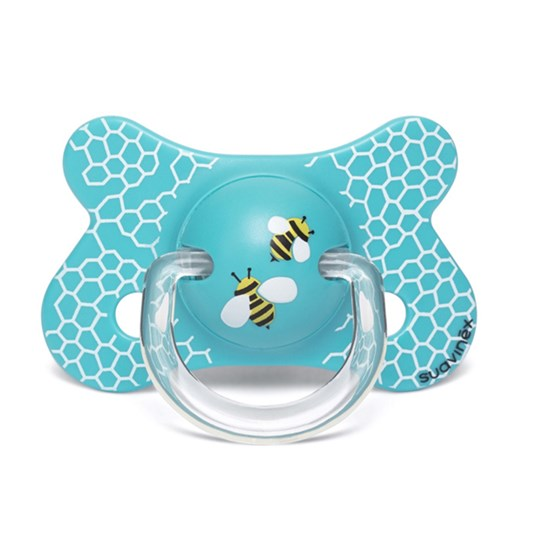 Suavinex Fusion Physiological Silicone Pacifier 4-18m Honeycomb White