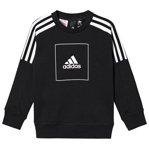 Image of adidas Performance Athletics Crew 3 Striber Sweatshirt Sort 11-12 years (152 cm) (1508648)