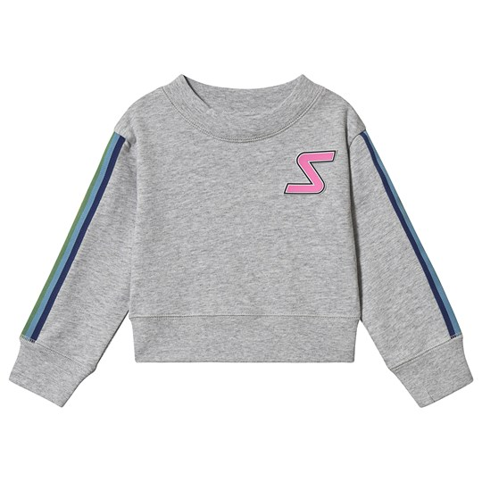 Stella McCartney Kids Badge and Tape Sport Sweatshirt Grey 1461