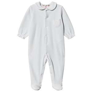 Image of Bonpoint Velour Footed One-Piece Blå 12 months (1575689)