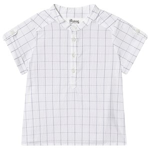 Image of Bonpoint Check Bomuld Button Up Skjorte Hvid 3 years (1575736)