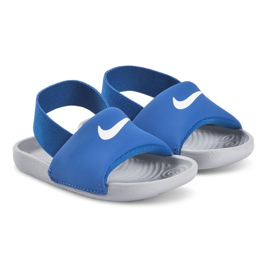 NIKE Kawa Sliders Hyper Cobalt and Wolf Grey 400