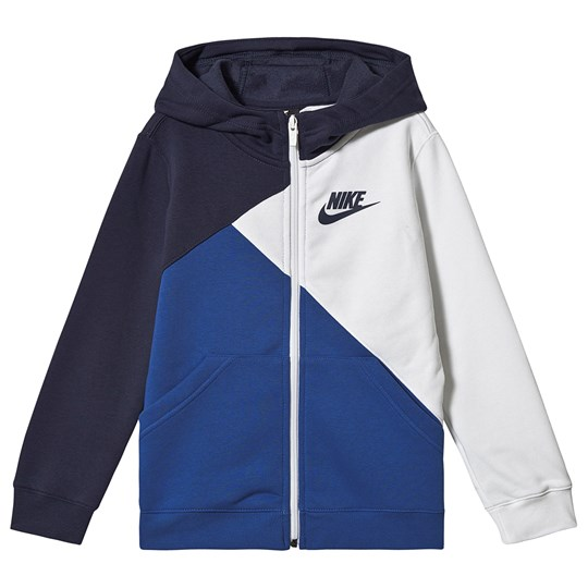 NIKE Amplify Full Zip Hoodie Blue/White 100