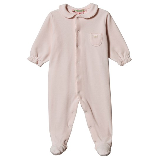 Bonpoint Velour Footed Baby Body Pink 021