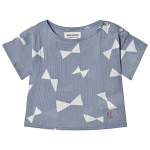 Image of Bobo Choses Bow Bluse Blue Fog 18-24 Months (1572820)