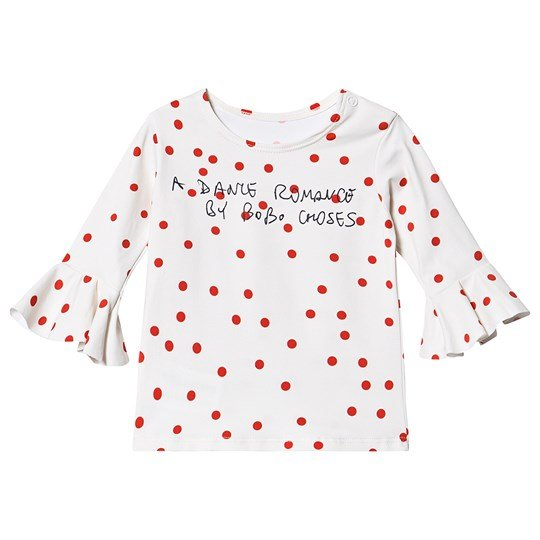Bobo Choses Dots Ruffle Swim Top Turtledove Turtledove