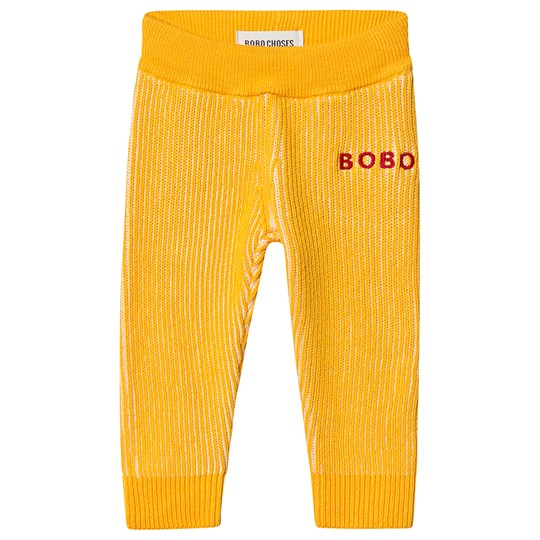 Bobo Choses Ribbed Knitted Pants Spectra Yellow Spectra Yellow